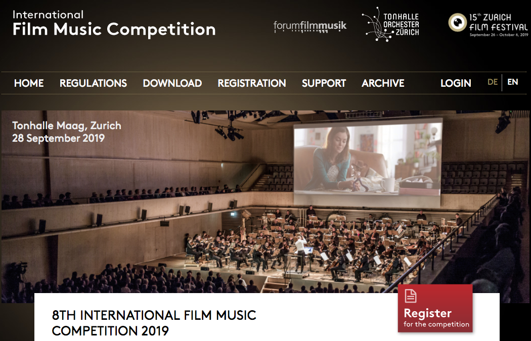 Master in Film Scoring - 8TH INTERNATIONAL FILM MUSIC COMPETITION 2019